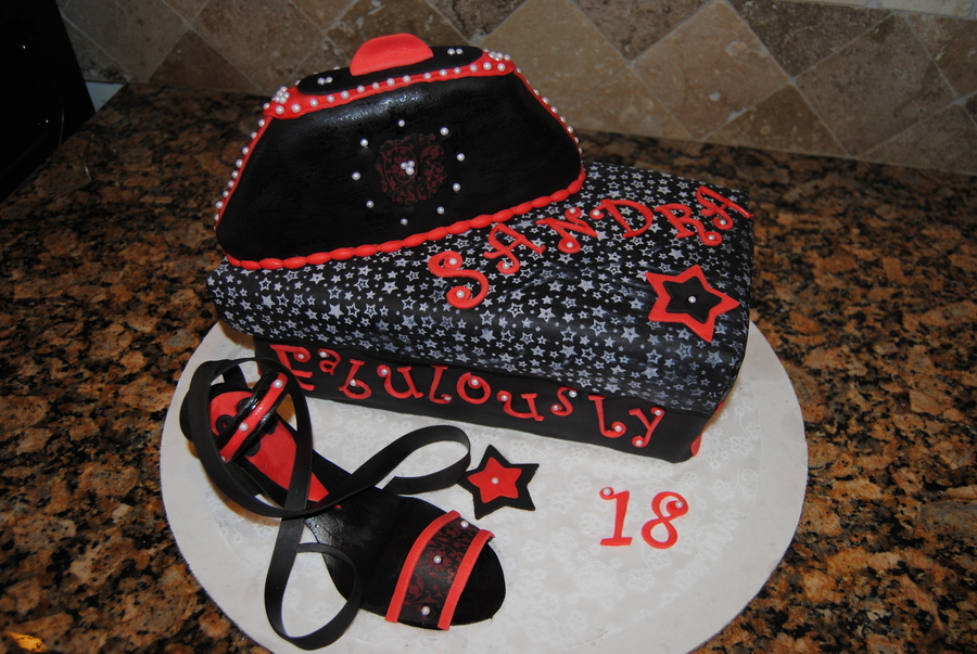 High Heel Shoe And Clutch Purse Birthday Cake - CakeCentral.com