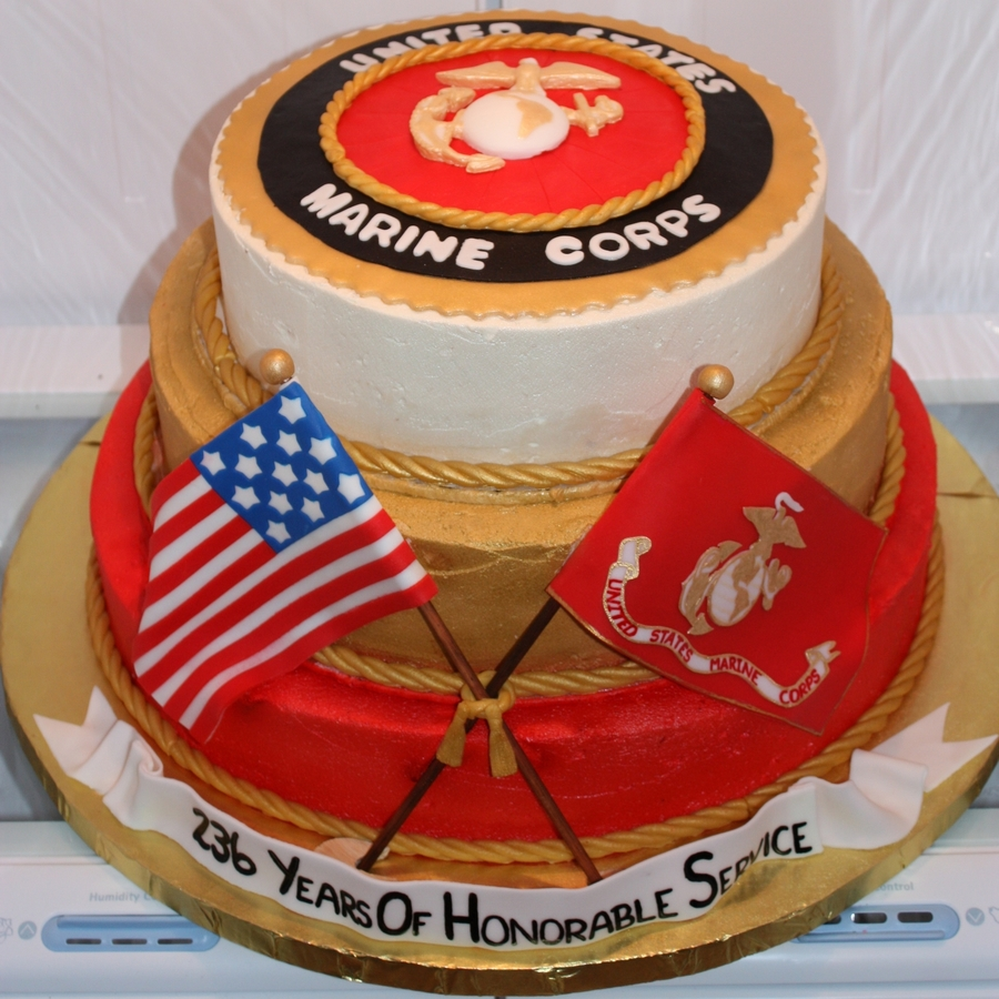 Military Ball Decorations: Mcia 2011 Marine Corps Ball Cake