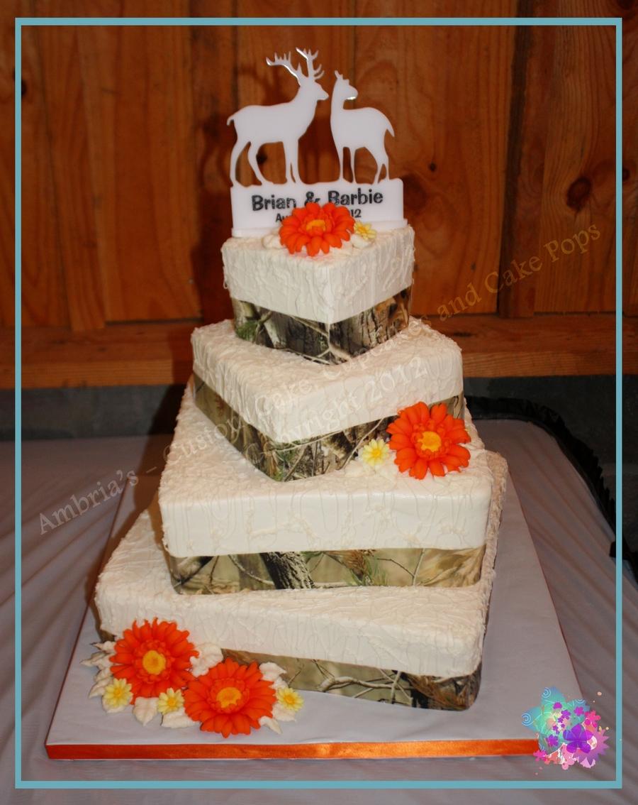 Camouflage Wedding Cake Decorations