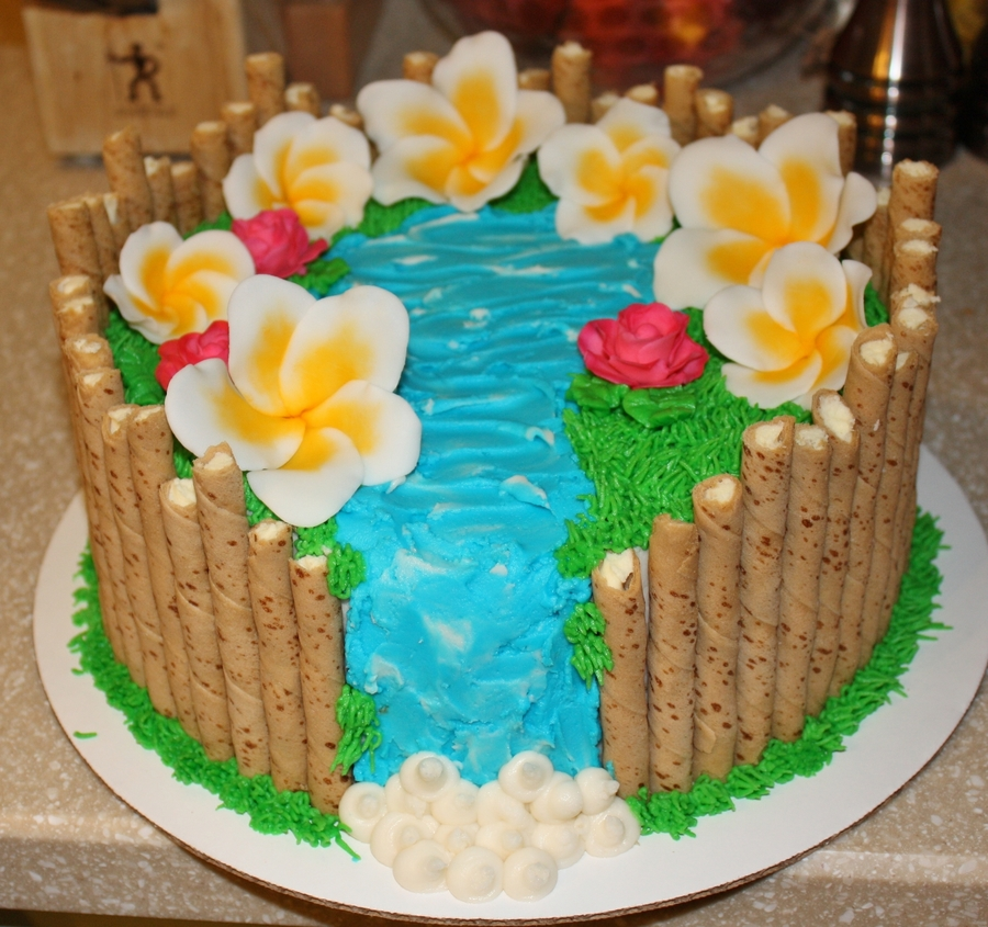 Hawaii/luau Theme on Cake Central