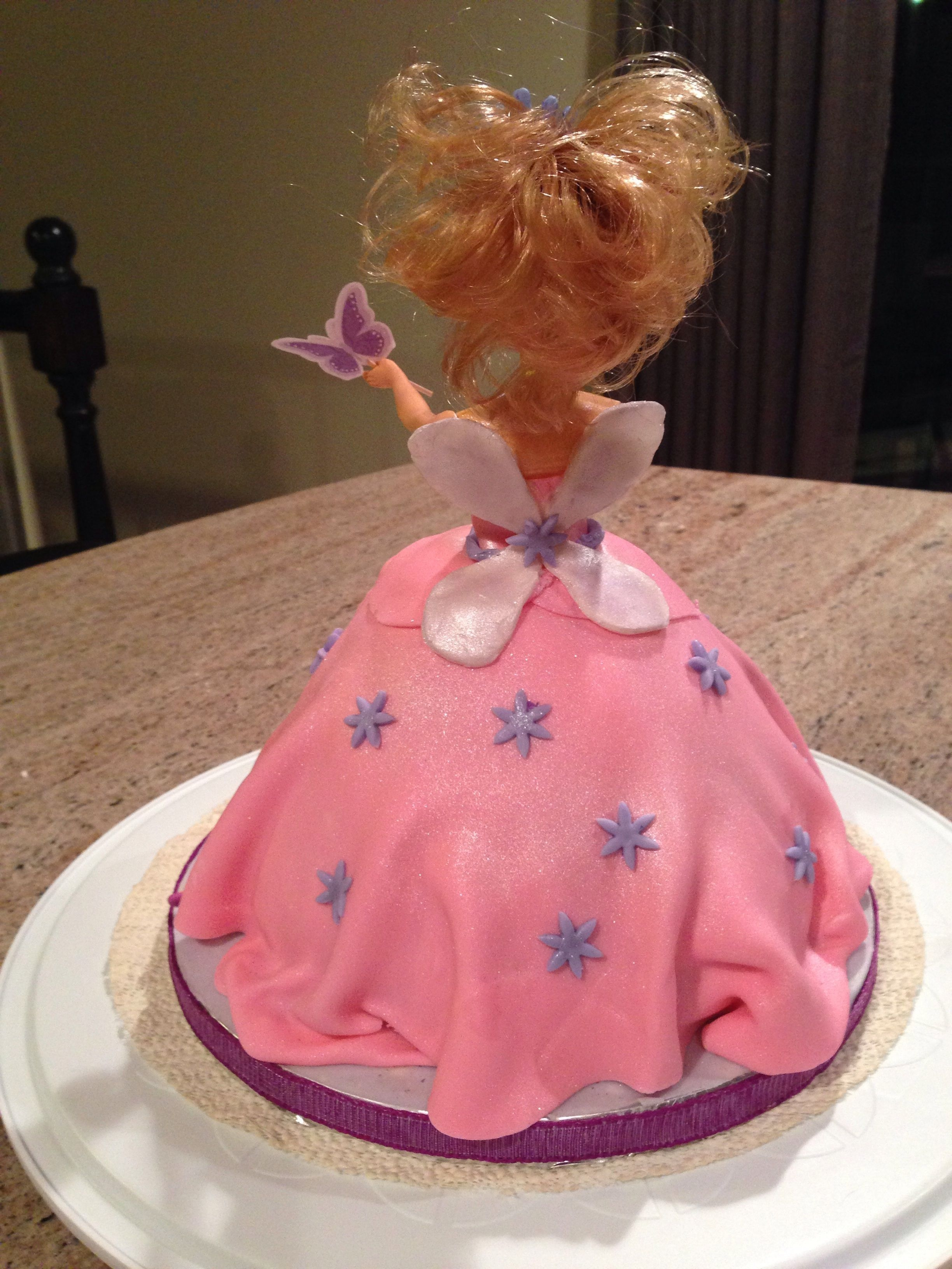 how to make a princess cake with a doll