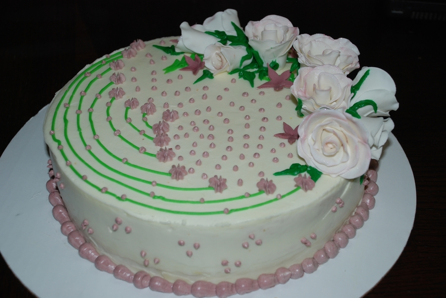 Cake With Roses on Cake Central