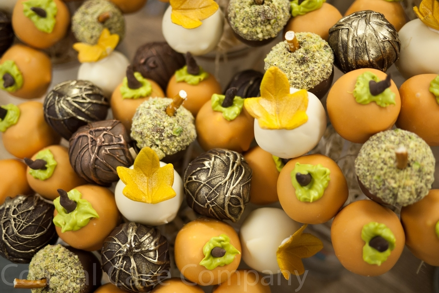 Thanksgiving Cake Pops Fall Themed. on Cake Central