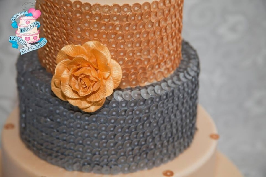 Blinged Out Wedding Cake - CakeCentral com
