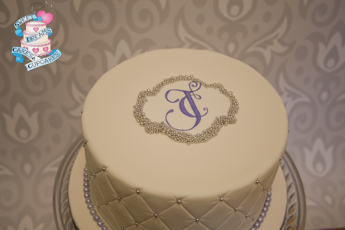 Sweet And Simple e Tier Wedding Cake Quilted Fondant