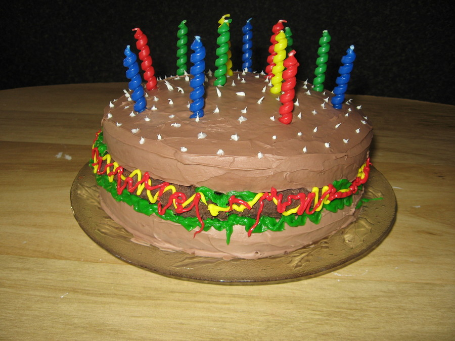 Pleasing Hamburger Birthday Cake Cakecentral Com Funny Birthday Cards Online Inifodamsfinfo