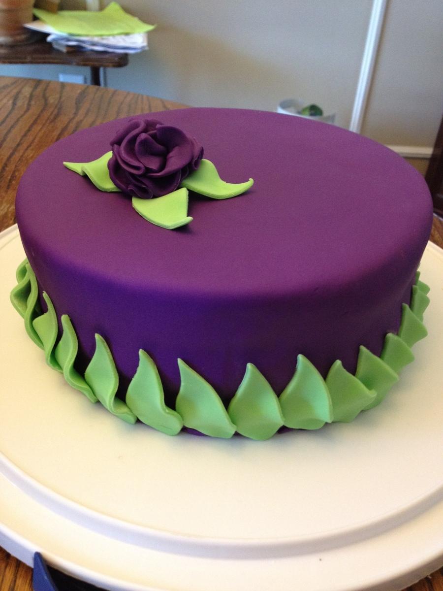 Simple Decorative Birthday Cake Mm Fondant Cakecentral