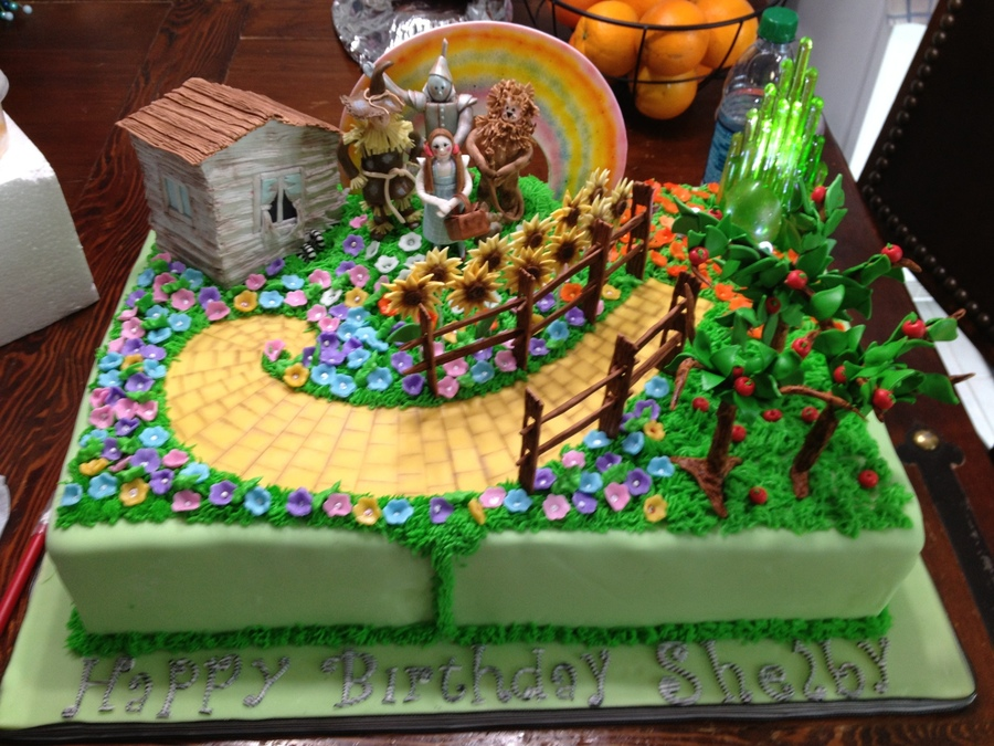 Wizard Of Oz Cake For 4 Year Old Birthday Cakecentral Com