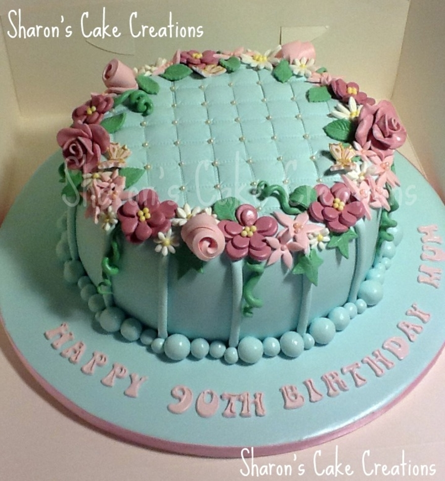 Quilted Birthday Cake on Cake Central