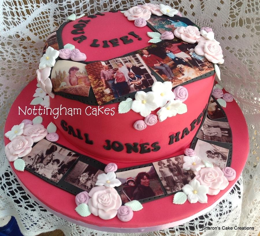 Cake Decorating Timeline Buttercream : Hot Pink Timeline Cake - CakeCentral.com
