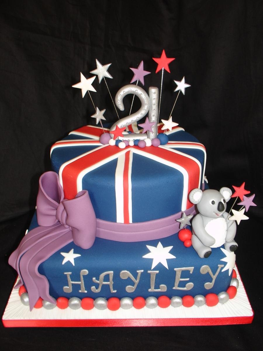 21st Australian Theme Cake Cakecentral Com