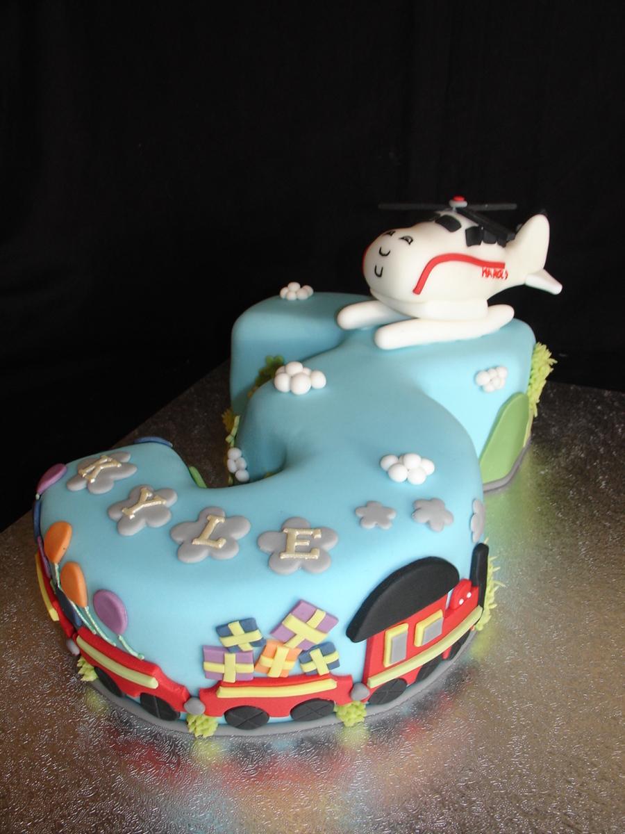 Harold Helicopter Fondant Cake Cakecentral Com