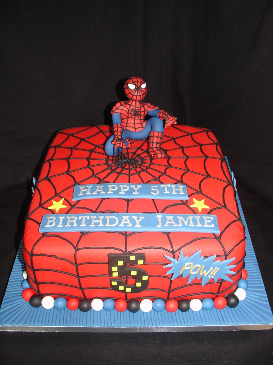 Spider Man Fondant Cake Cakecentral Com