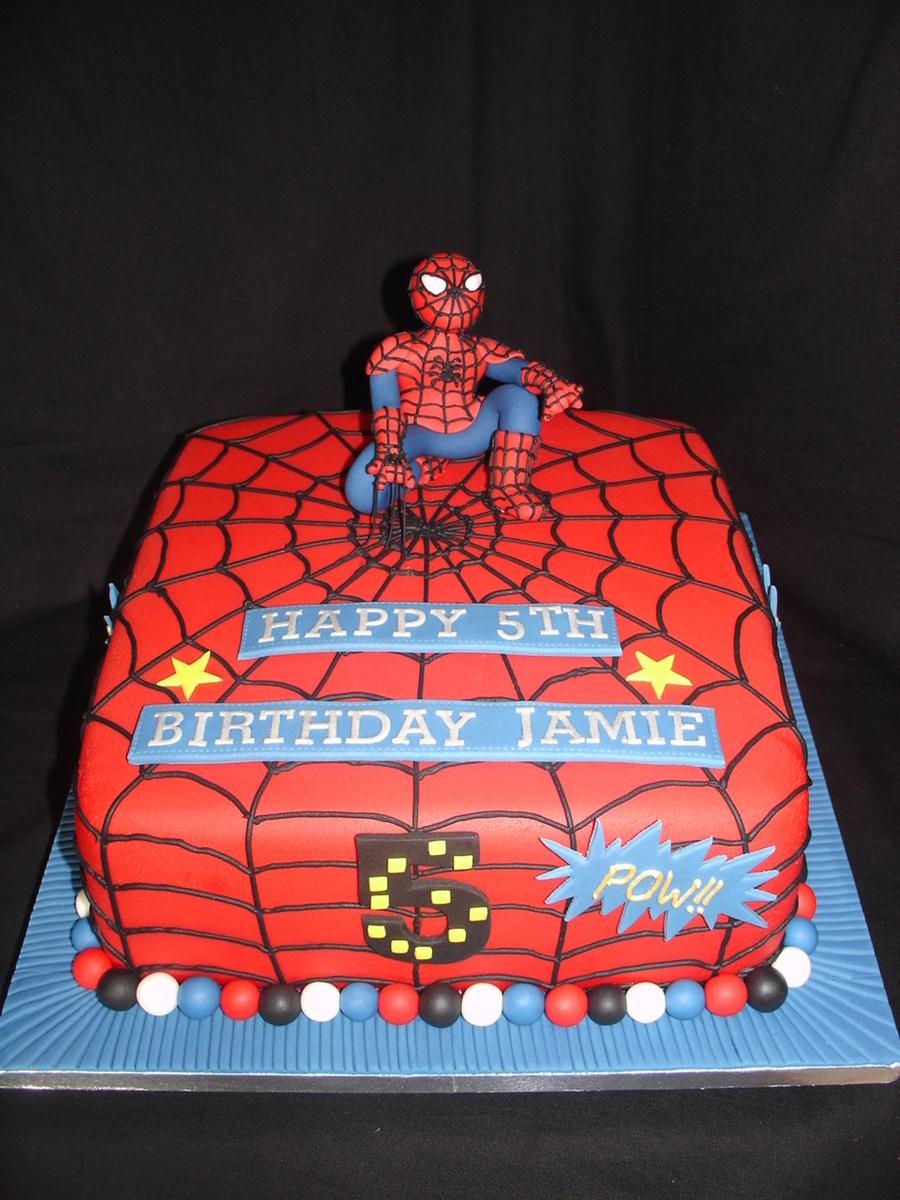 SpiderMan Fondant Cake CakeCentralcom