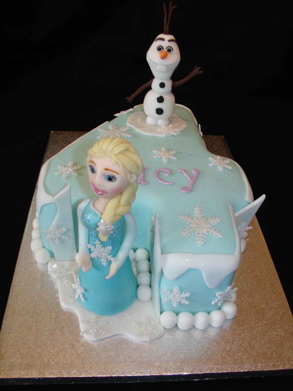 Disney Frozen Number 4 Shaped Fondant Cakes Cakecentral Com