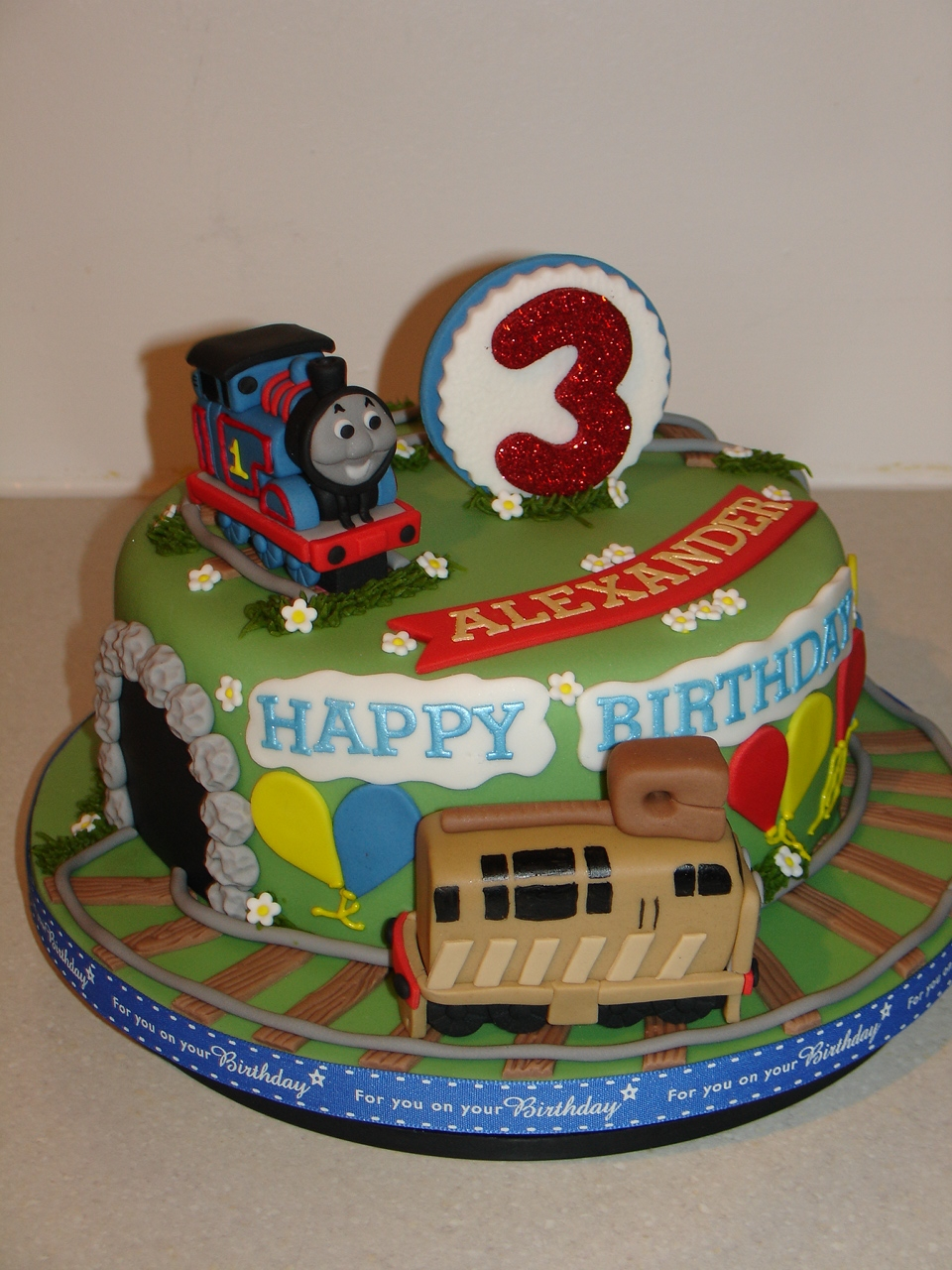 Thomas The Tank Engine Fondant Cake Cakecentral Com