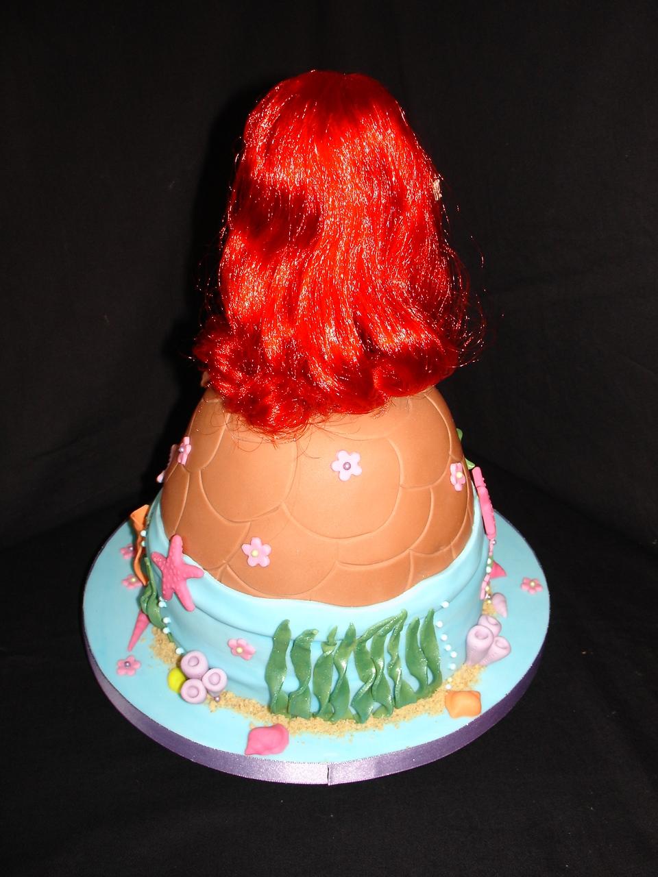 Ariel Little Mermaid Doll Fondant Cake Cakecentral Com