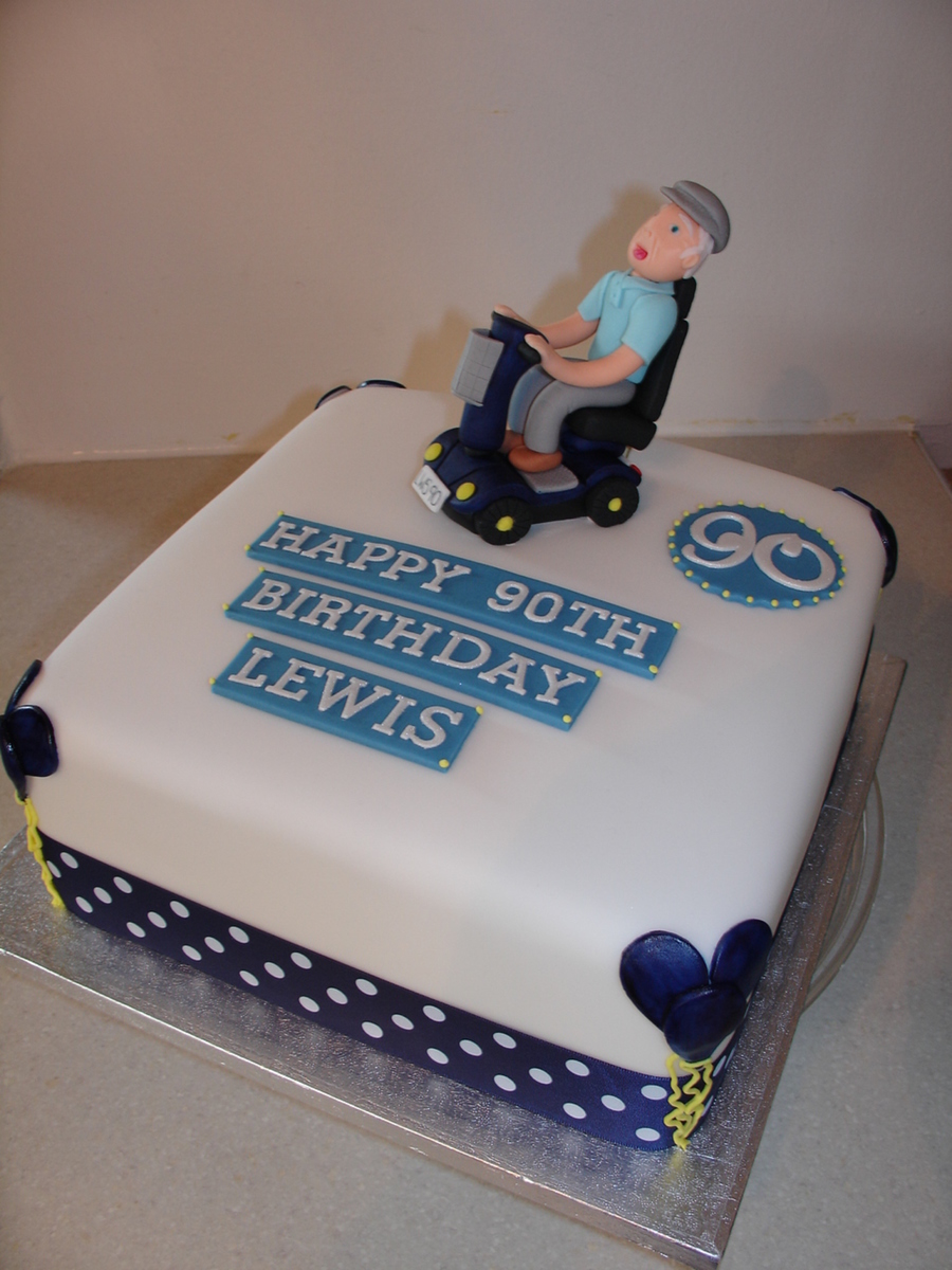 90th Mobility Scooter Themed Fondant Cake Cakecentral Com