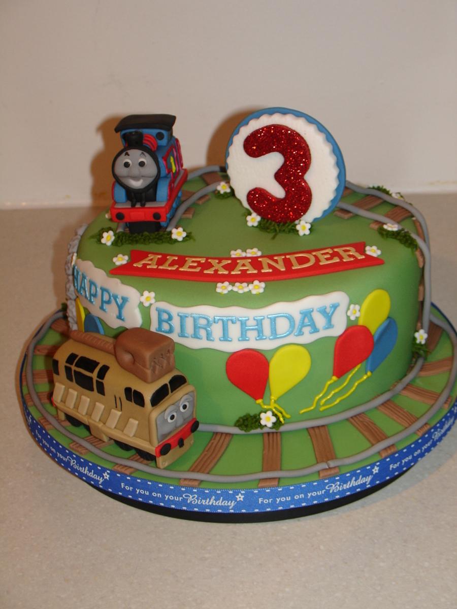 Thomas The Tank Engine Fondant Cake Cakecentral Com