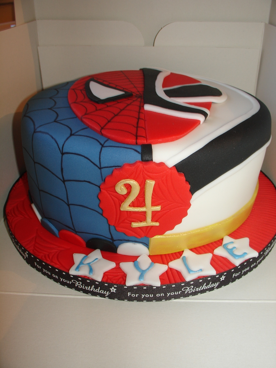 Spiderman And Red Samurai Power Rangers Cake Cakecentral