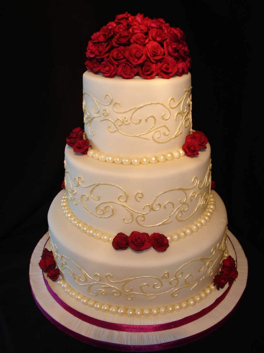 red wedding cakes and plum wedding cake cakecentral 19170