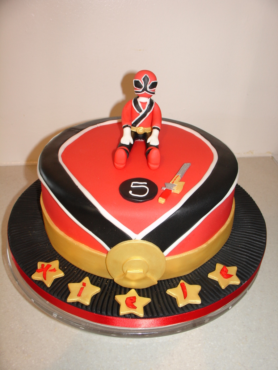 Power Ranger Samurai Cake Ideas