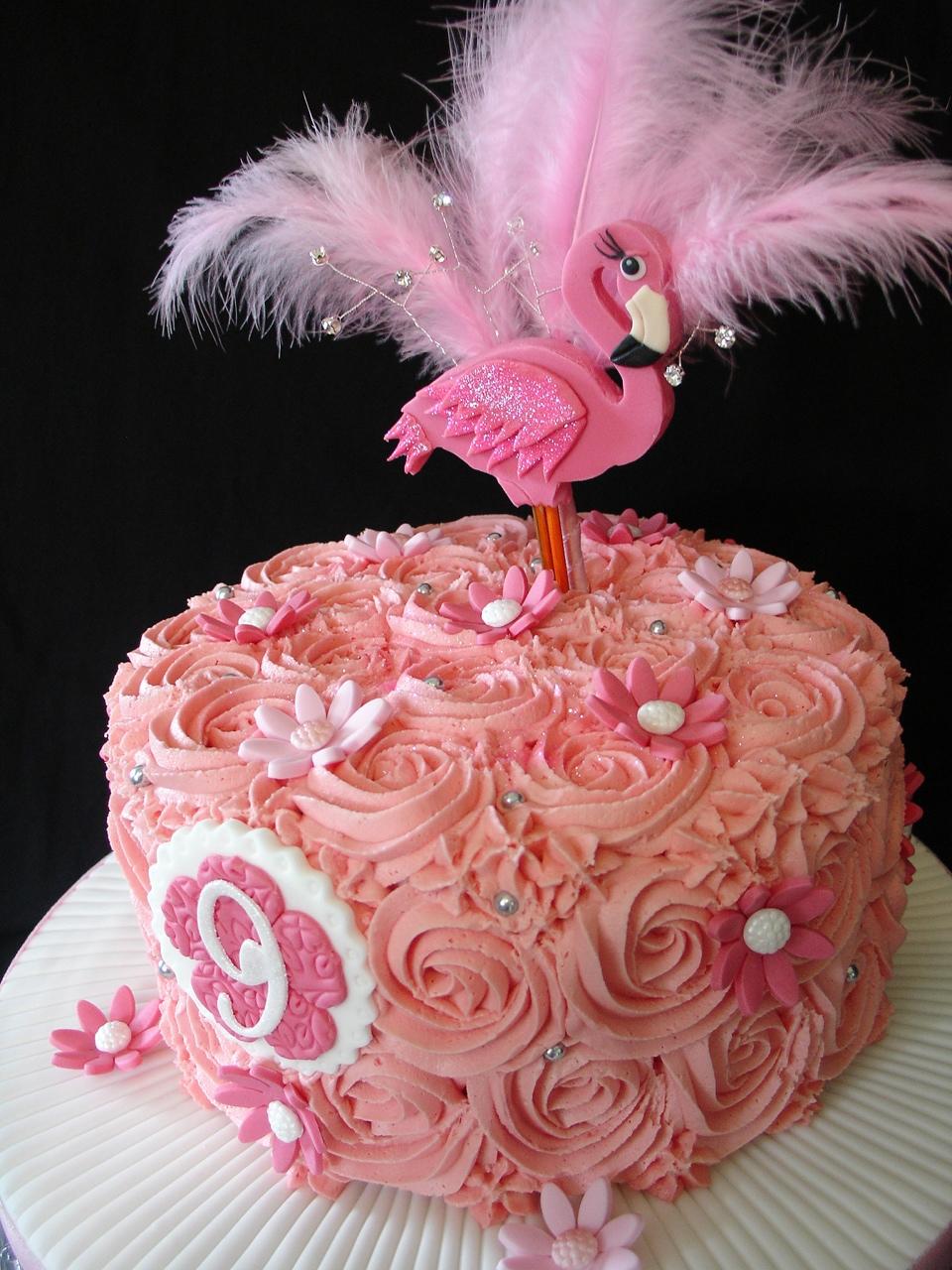 Flamingo Cupcakes Cake