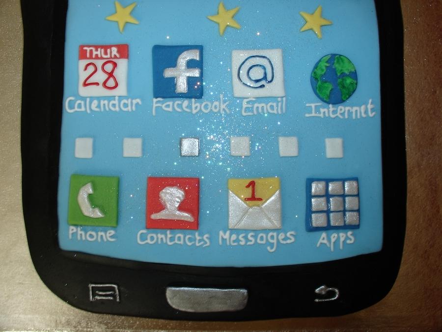 Samsung Mobile Phone Fondant Cake Cakecentral