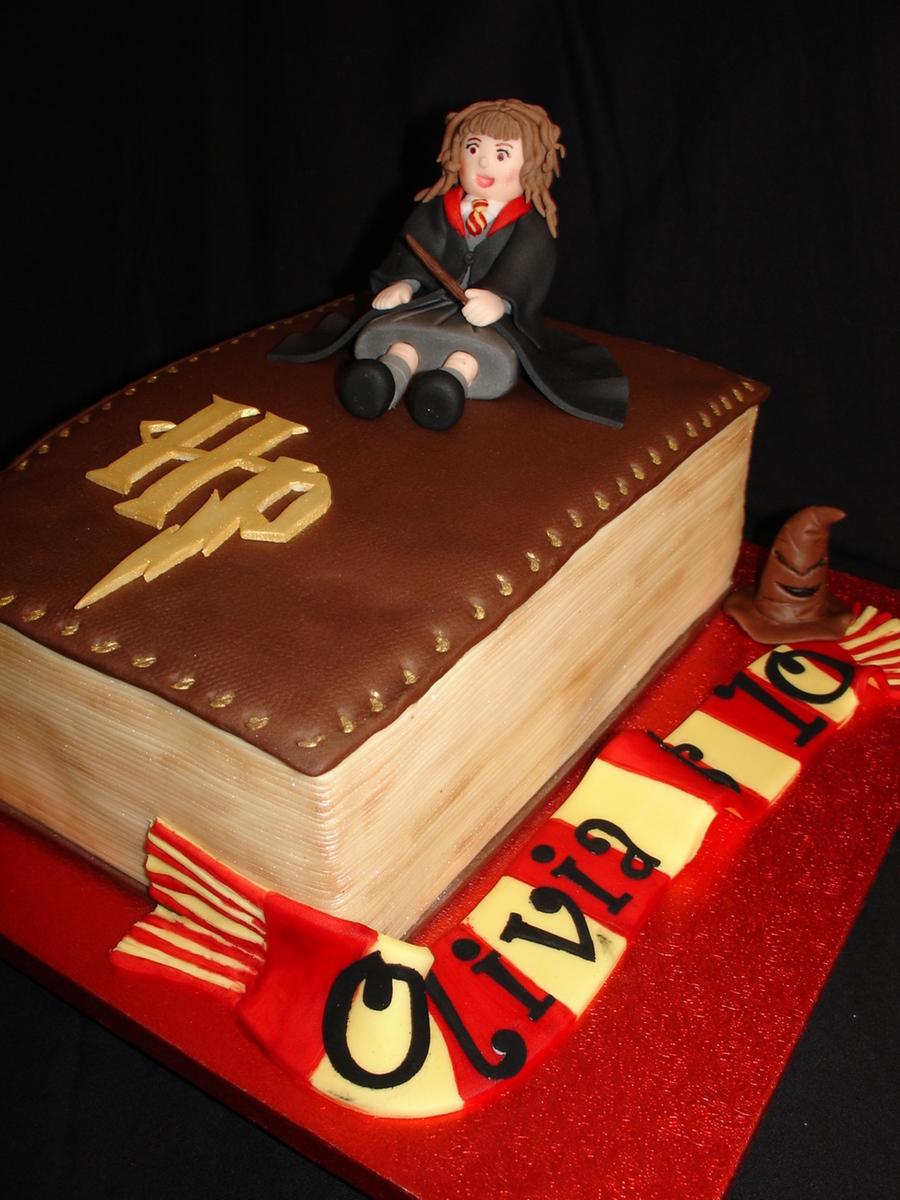 Harry Potter Hermoine Granger Book Fondant Cake CakeCentralcom