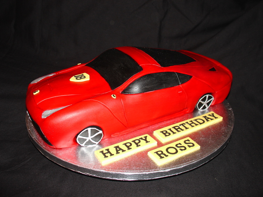 Car Cake Images Download : Ferrari Car Shape Fondant Cake - CakeCentral.com