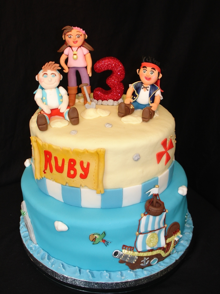 Jake And The Neverland Pirates Fondant Cake Cakecentral Com