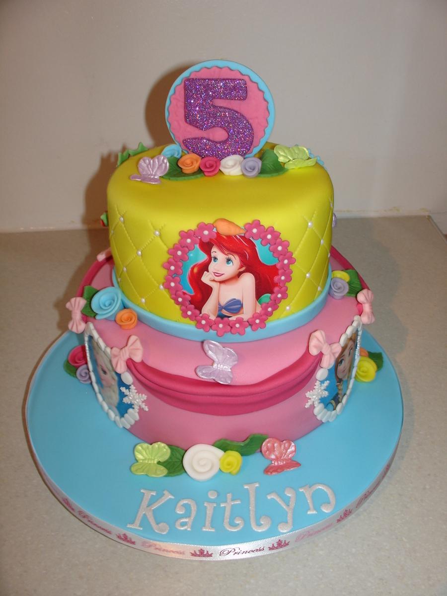 Disney Princesses Fondant Cake Cakecentral Com
