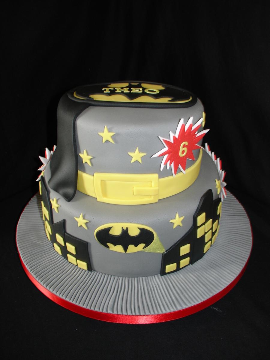 Batman Fondant Cake Cakecentral Com