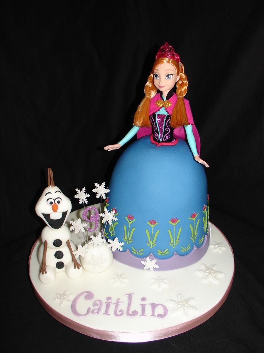 Anna Frozen Doll Dress Fondant Cake CakeCentralcom