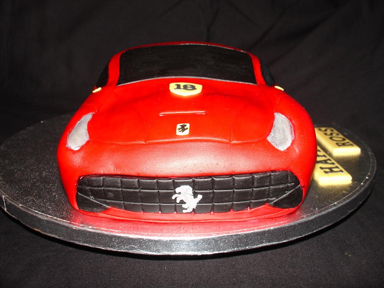 Ferrari Car Shape Fondant Cake CakeCentralcom