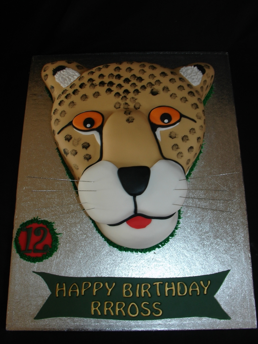 Cheetah Fondant Cake on Cake Central
