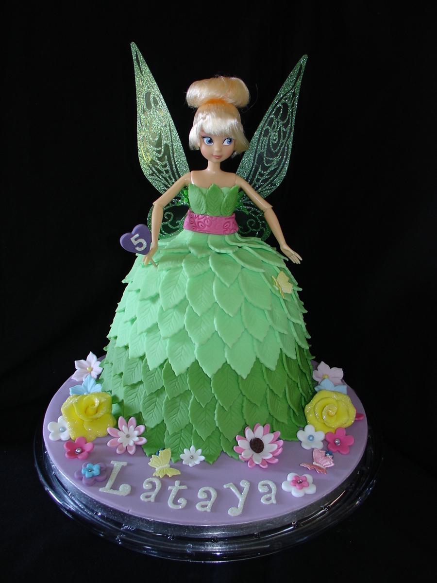 Tinkerbell Doll Dress Fondant Cake CakeCentralcom