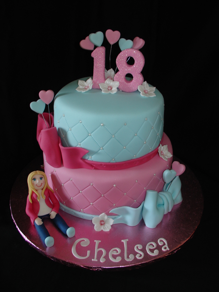 18th Birthday Fondant Cake Cakecentral