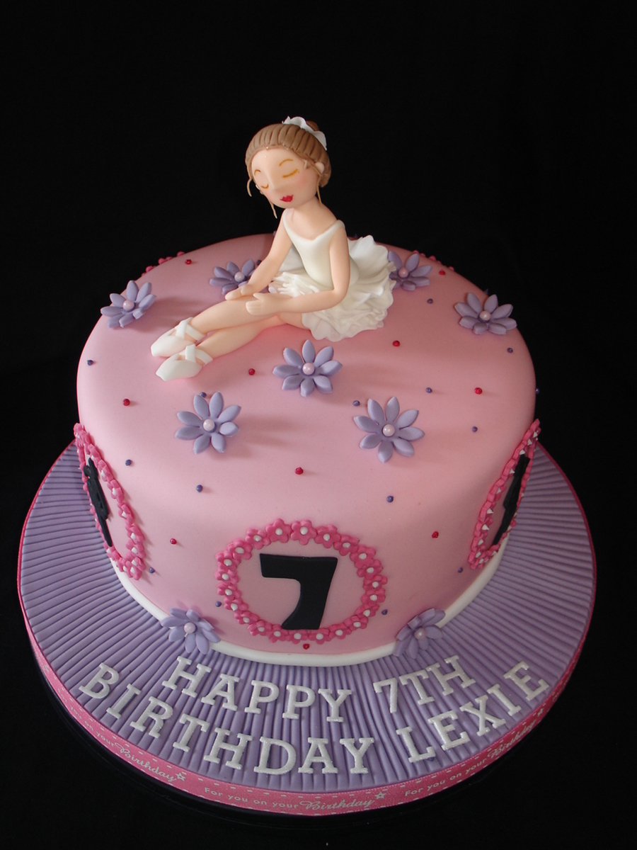 Ballet Themed Fondant Cake Cakecentral Com