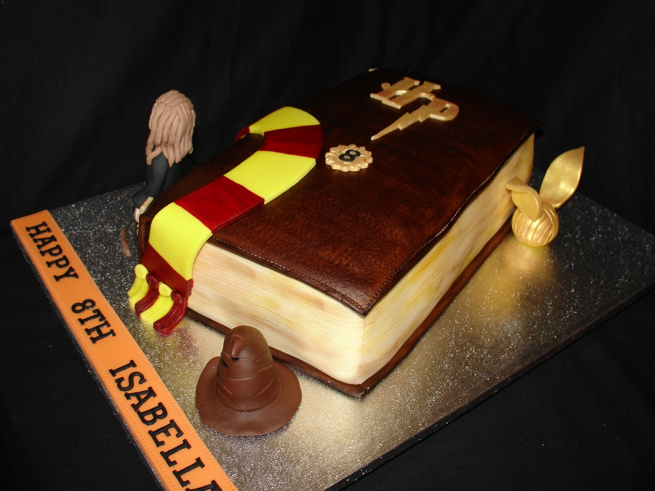 Harry Potter Hermione Granger Themed Fondant Cake