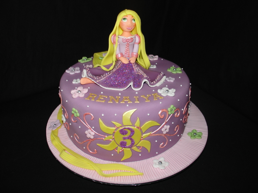 Disney Tangled Birthday Cake