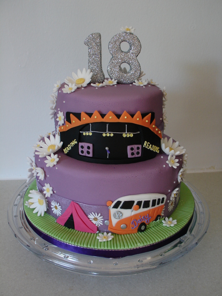 Music Festival 18th Birthday Fondant Cake Cakecentral Com