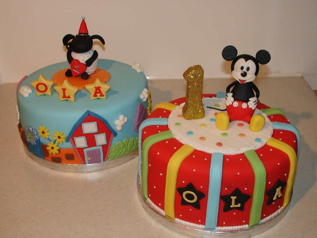 Mickey Mouse 1st Birthday Fondant Cake Cakecentral