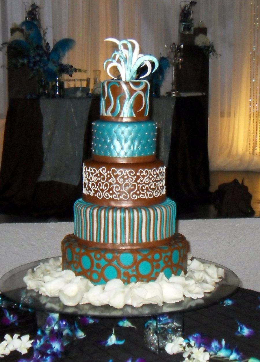 Five Tiers Wedding Cake on Cake Central