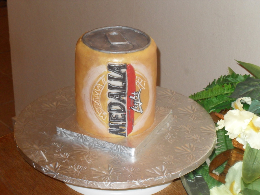 Medalla Beer Cake on Cake Central