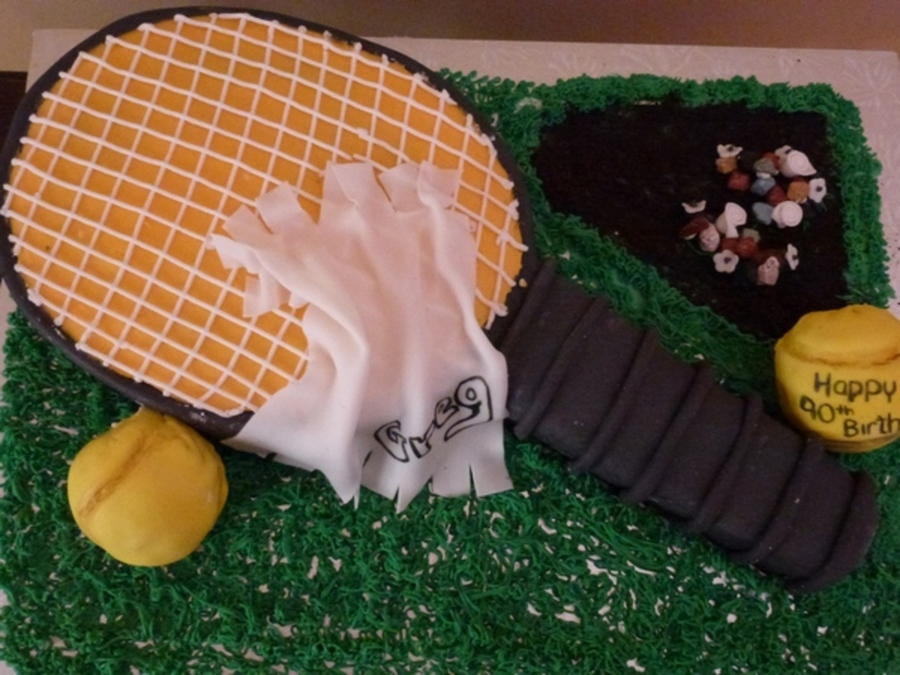 Tennis Theme Birthday Cake on Cake Central
