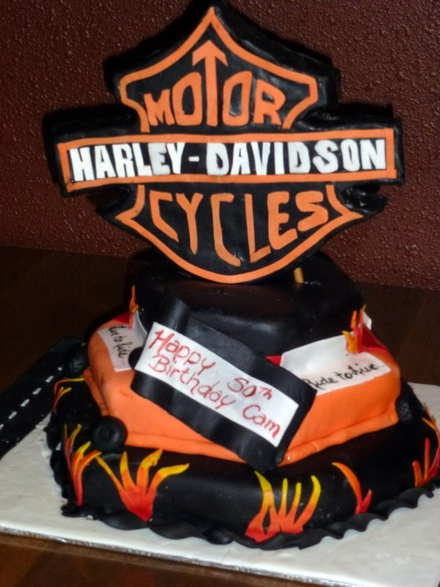 Harley Davidson Cake Decorations Harley Davidson Cakecentralcom