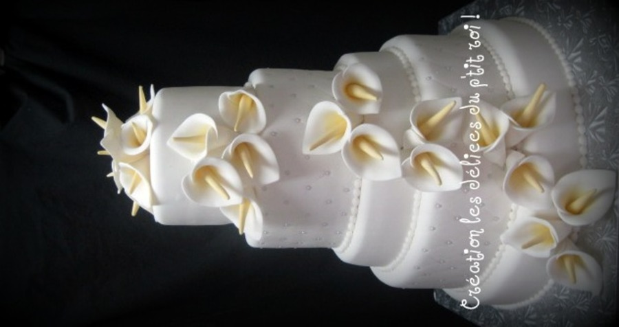 Calla Lili Wedding Cake on Cake Central
