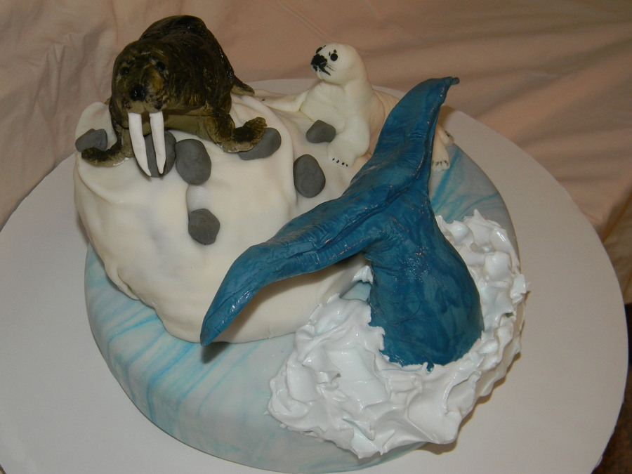 Alaska Theme Cake CakeCentralcom