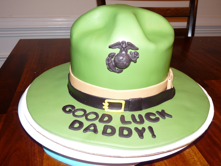 Usmc Drill Instructor Cover  on Cake Central